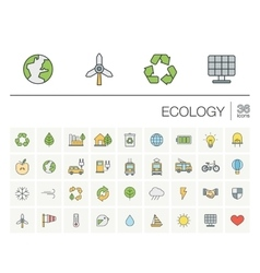 Ecology and environmental color icons vector image