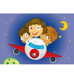 Aeroplane kids vector