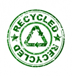 recycled grunge stamp vector image