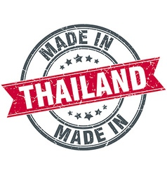 Made in thailand red round vintage stamp vector