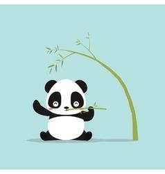 Abstract cute panda vector