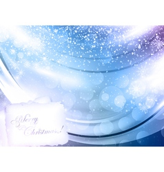 abstract glowing christmas background vector image vector image