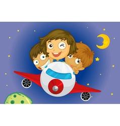 Aeroplane kids vector image