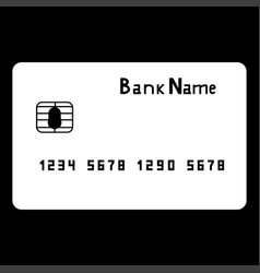 Bank cit card the white color icon vector
