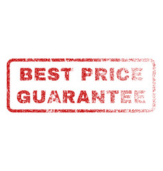 best price guarantee rubber stamp vector image vector image
