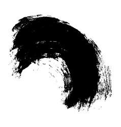 black brush stroke vector image vector image