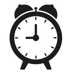 Black clock on white isolated vector