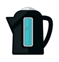 Black colored kettle vector