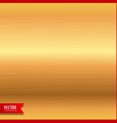 brushed gold metal texture background vector image vector image