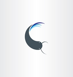 Catfish icon symbol logo design element vector