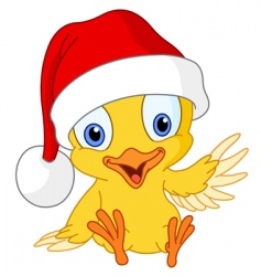 christmas chick vector image vector image