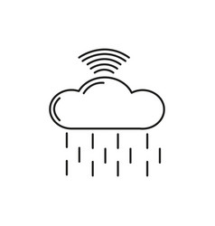cloud wireless computing icon vector image vector image