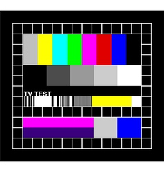 colored TV signal graphic vector image
