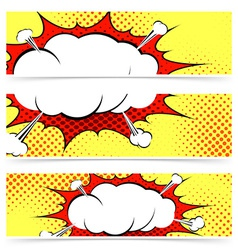 Comic book retro style web header vector