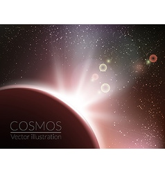 Earth sunrise with stars vector image vector image