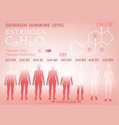 estrogen woman image vector image