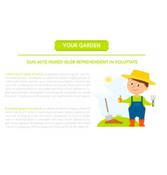 Gardener with flower vector