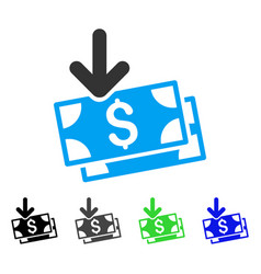 Get banknotes flat icon vector