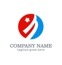 loop star logo design vector image vector image
