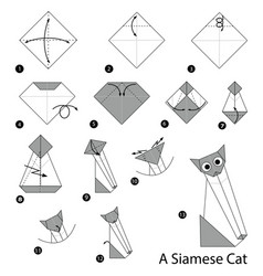 Make origami a siamese cat vector