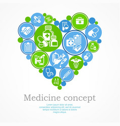 Medical heart concept vector