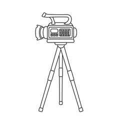Movie camera on a tripod making a movie single vector