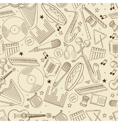 Music seamless retro vector image vector image