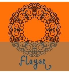 Oriental flayer template design orange color vector