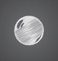pearl sketch logo doodle icon vector image
