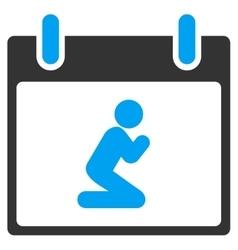 Pray person calendar day toolbar icon vector
