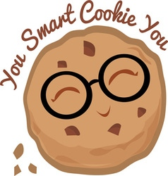 Smart cookie vector