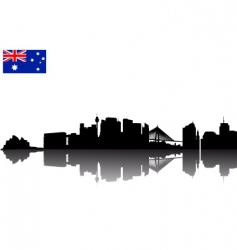 Sydney silhouette vector image vector image