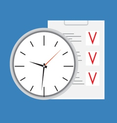 Time planning design icon vector image