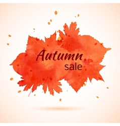 Watercolor banner of autumn leaves vector