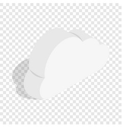 Whiye cloud isometric icon vector