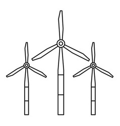 windmills for electric energy production icon vector image