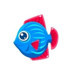 Blue stripy fantastic aquarium tropical friendly vector