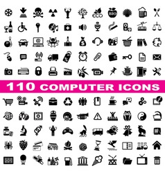 Set computer icons vector