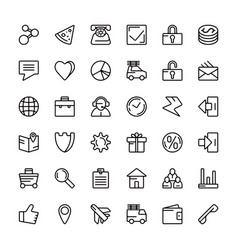 Navigation online store and business icons vector