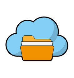 file folder and cloud storage related icon image vector image
