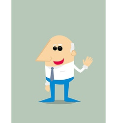 Old cartoon businessman vector
