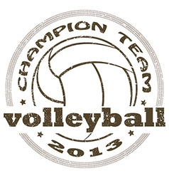 Volleyball label vector