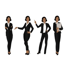 Business woman color full body black vector