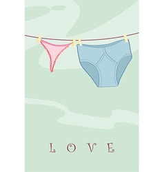 Washing line vector