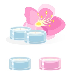 Aroma candle on white vector