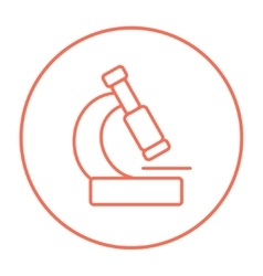 Microscope line icon vector