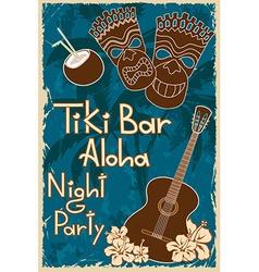 Vintage Tiki bar poster vector image