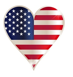 Flag heart american usa america united red concept vector