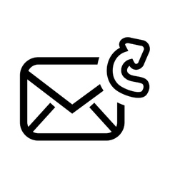 Forward email setup isolated icon design vector