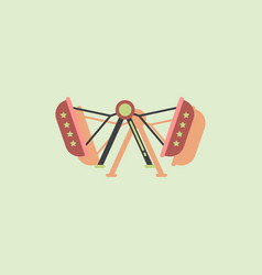 Amusement park circus attraction in sticker style vector